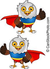 Super Bald Eagle Character - 2 - A vector illustration on a...