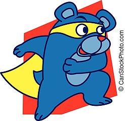 Super bear vector