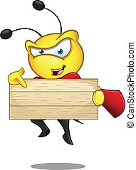 Super Bee - Pointing At Wooden Sign