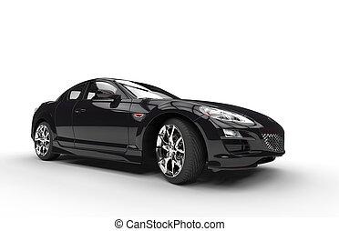 Super Black Car