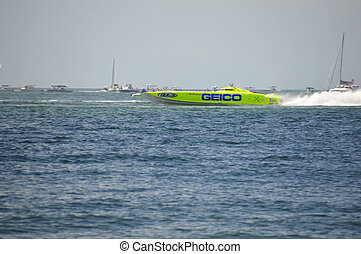 Super Boat Offshore Races (Miss GEICO) - This is a photo of...