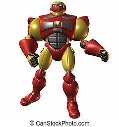 Super Bot-Fist of Fu - 3D Render