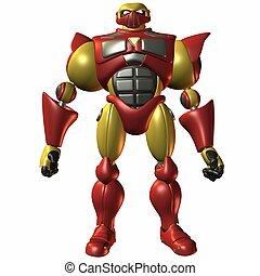 Super Bot-Lets Play - 3D Render