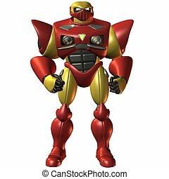 Super Bot-Locked and - 3D Render