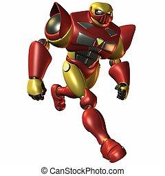 Super Bot-Running - 3D Render