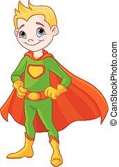 Super boy - Illustration of very cute super boy