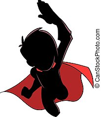 Super Boy Flying Silhouette