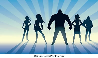 Super Business Team - Conceptual animation depicting...
