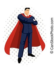 Super Businessman Cartoon