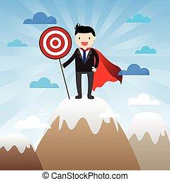 Super Businessman Concept