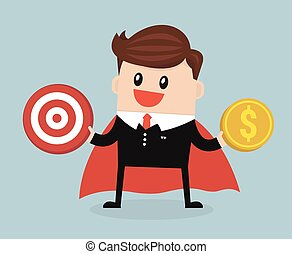 Super Businessman flat design vector.