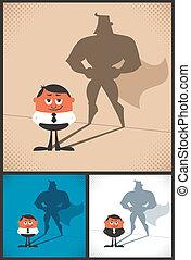 Super Businessman - Conceptual illustration of businessman...