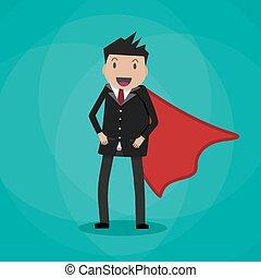 Super Businessman in suit
