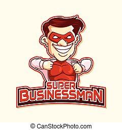 super businessman red illustration