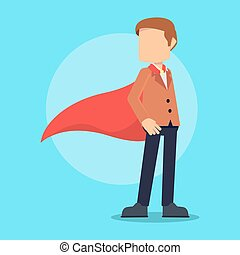 super businessman wearing cape