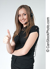 Super call center operator - Business collection
