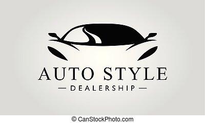 Super car logo design with concept sports vehicle icon...