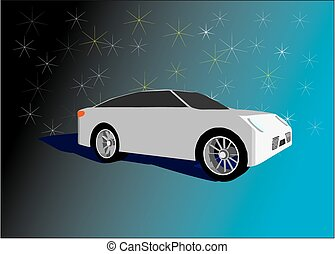 Super car on a nice background - White super car on a nice...