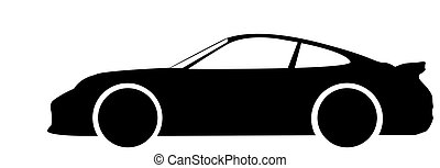Super Car Silhouette - A super car silhouette isolated on a...