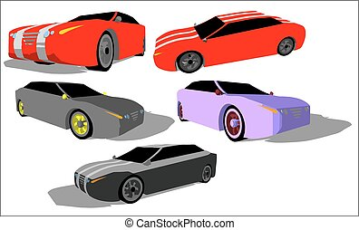 Super car - super car from various angles