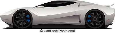 Super Car Vector Illustration - Hot aerodynamic super car...