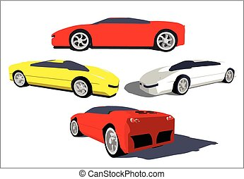 Super car, vector image - Vector image of a super car in...