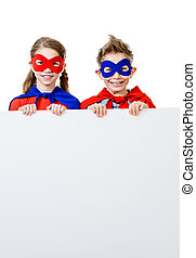 super children - Boy and girl teenagers in a costume of ...
