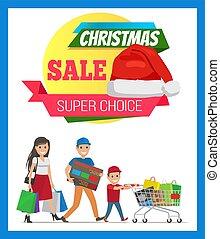 Super Choice Christmas Sale Vector Illustration