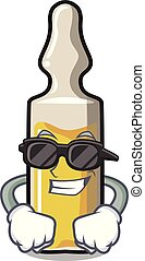 Super cool ampoule character cartoon style vector...