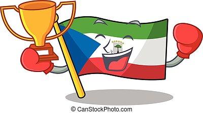 Super cool Boxing winner flag equatorial guinea Scroll in ...