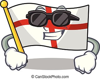 Super cool flag england with the cartoon shape
