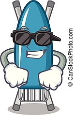 Super cool iron board character cartoon vector illustration