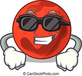 Super cool mars planet character cartoon