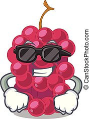 Super cool mulberry in the character fruit basket vector...