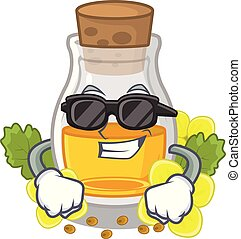 Super cool mustard oil isolated with the character vector ...