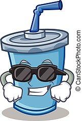 Super cool soda drink character cartoon