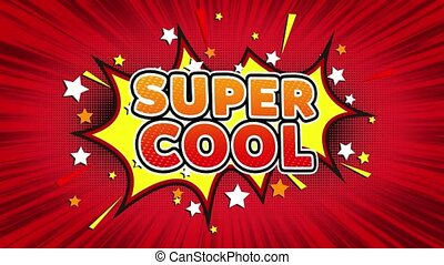 Super Cool Text Pop Art Style Comic Expression. - Super Cool...
