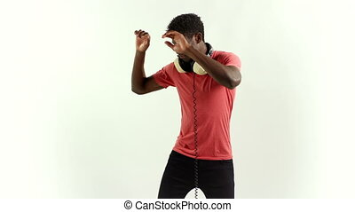 super cool young guy dances