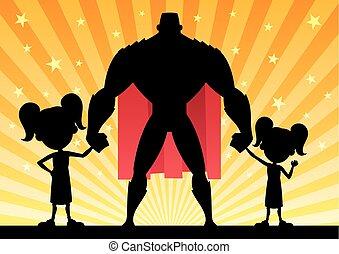 Super Dad 2 Daughters