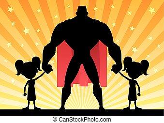 Super Dad 2 Twin Girls