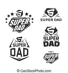 Super Dad emblems