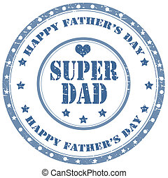 Super Dad-stamp