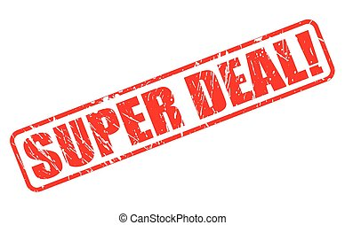 Super deal red stamp text