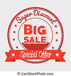 super discount big sale special offer star banner