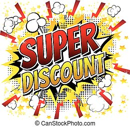 Super discount - Comic book style w