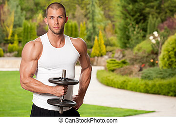 Super fit. - Portrait of a very fit lean attractive young...