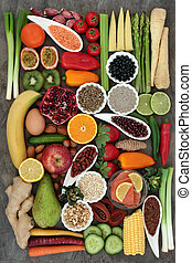 Super Food for a Healthy Life - Super food concept for a...