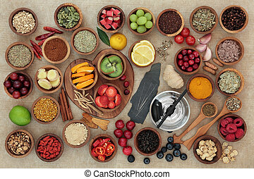 Super Food for Cold and Flu Remedy - Super food selection...