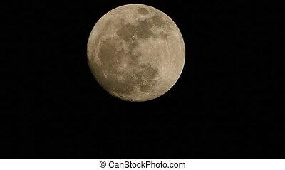 Super Full Moon in night sky - Close-up of Super Full Moon...
