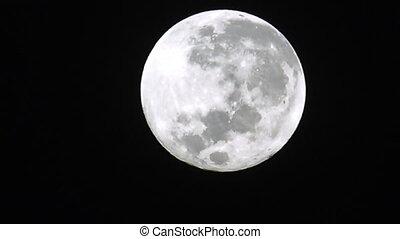 Super full moon light